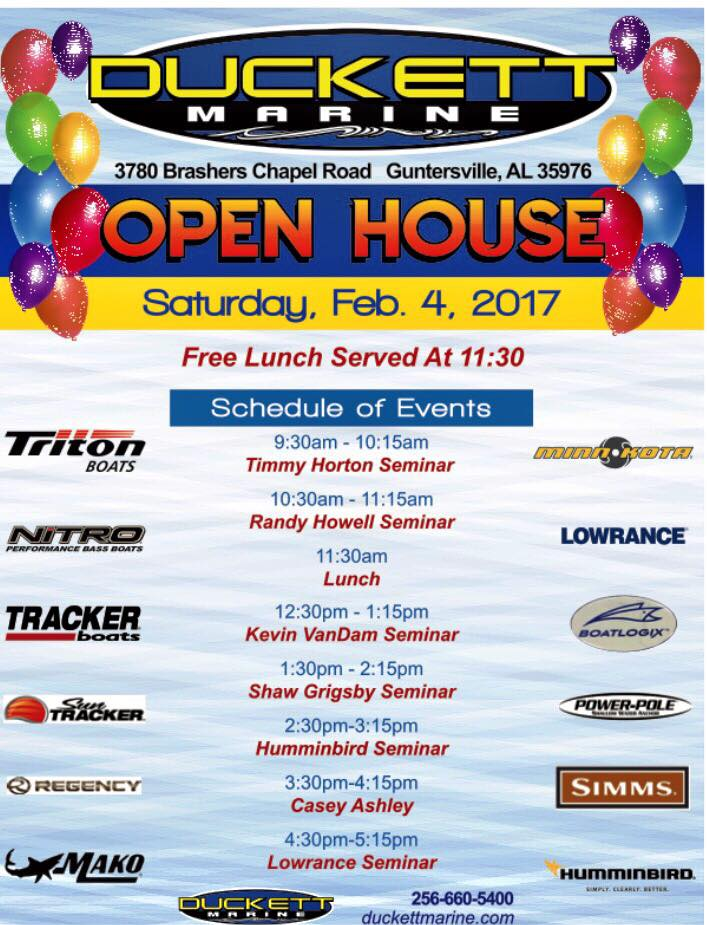 Ducket Marine Open House Kevin VanDam Randy Howell Shaw Grigsby