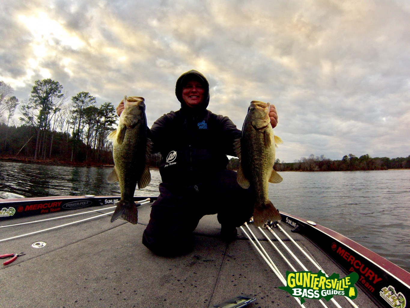 70 s in january big bass for Fishing report lake guntersville