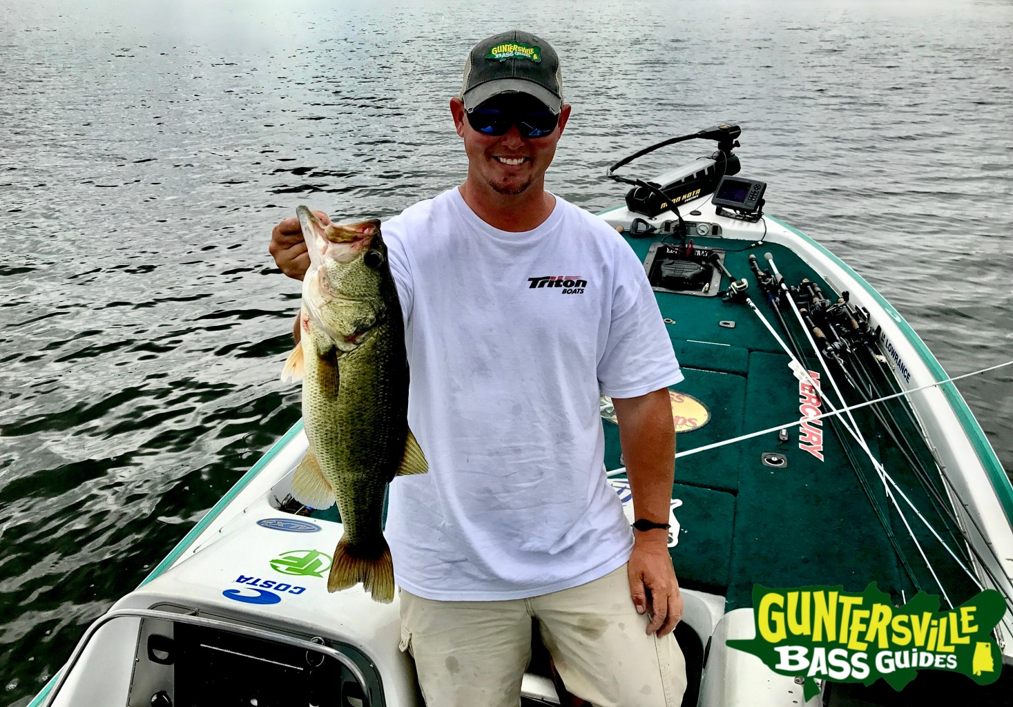Lake guntersville 1 guide capt jim leary for Fishing report lake guntersville