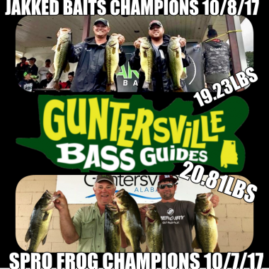 Champions of Jakked Baits & SPRO FROG Tournaments
