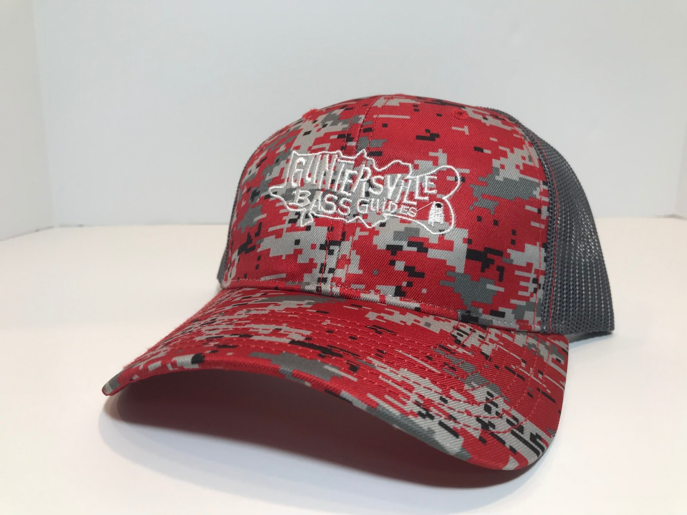 GUNTERSVILLE BASS GUIDES HATS DIGITAL CAMO