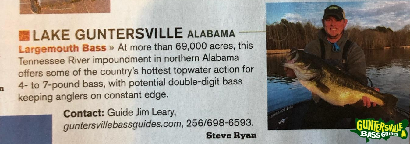 Guntersville Bass Guides  In Fisherman Magazine